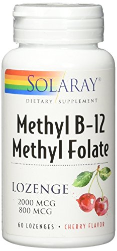 Solaray B-12 + Methyl Folate Lozenges, 60 Count
