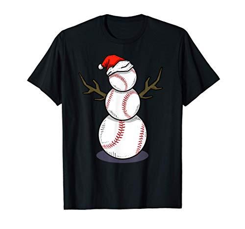 Christmas in July Summer Baseball Snowman Party T-Shirt Gift T-Shirt