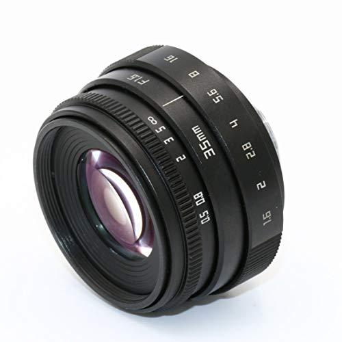Sylvialuca 35-mm-F1,6-APS-C-Fernseher TV-Objektiv/CCTV-Objektiv Für spiegellose 16-mm-C-Mount-Kameras Klares Bild
