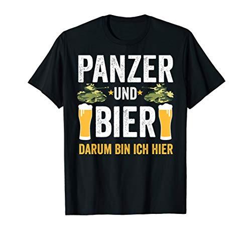 Panzer und Bier darum bin ich hier Militär Soldat T-Shirt