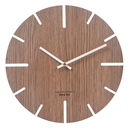 YHYMY Wooden 3D Wall Clock Modern Design Nordic Brief Living Room Decoration Kitchen Clock Art Hollow Wall Watch Home Decor 12 inch