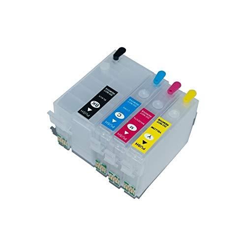 Wschen. Ink Cartridge Refill T27XL T2711-T2714 con Arc Chip for WF-7110 WF-7210 WF-7710 WF-7715 WF-7720 WF-7610 WF-7620