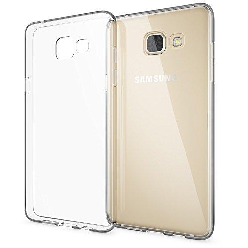 NALIA Handyhülle kompatibel mit Samsung Galaxy A5 2016, Slim Silikon Motiv Case Hülle Cover Crystal Schutzhülle Dünn Durchsichtig, Etui Handy-Tasche Schale Back-Cover Smart-Phone Bumper - Transparent
