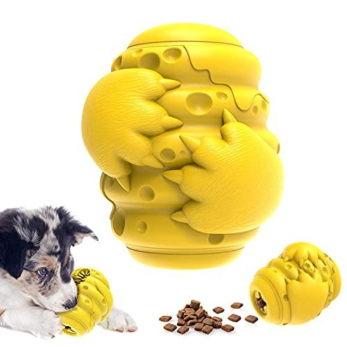 Hundespielzeug unzerstörbar, Kauspielzeug, Leckerli-spender, interaktiv, waschbar, Zahnpflege, Naturkautschuk