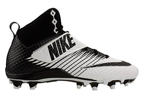 Nike Mens Lunarbeast Pro TD Football Cleat 13 White/Black