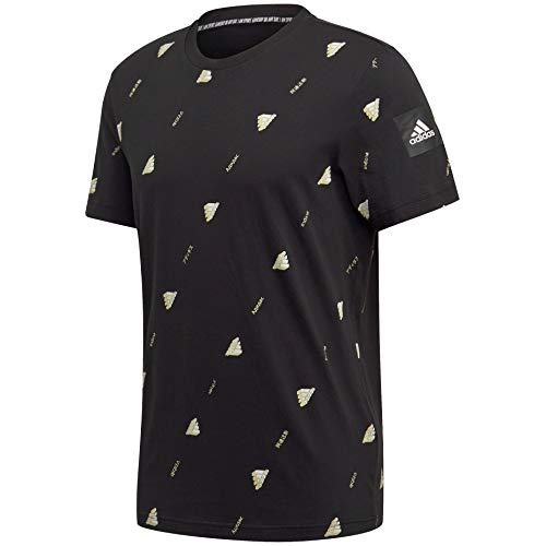 adidas Must Haves Graphic tee Camisa, Negro, Large para Hombre