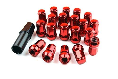 streetandtrack Steel Lug Nuts Stahl Radmuttern ROT M12x1.25 Nissan, Subaru, Suzuki,etc. JDM