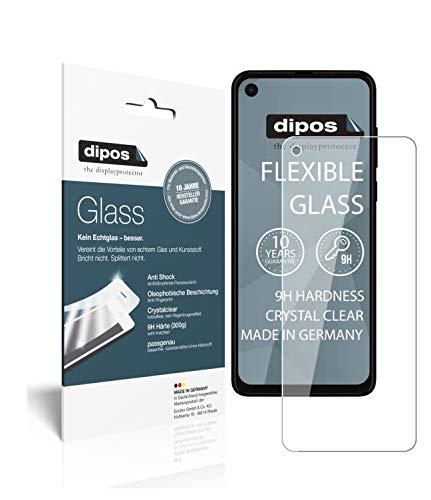 dipos I 2X Panzerfolie klar kompatibel mit Motorola One Vision Schutzfolie 9H Displayschutz-Folie (bewusst Kleiner als das Glas, da Dieses gewölbt ist)