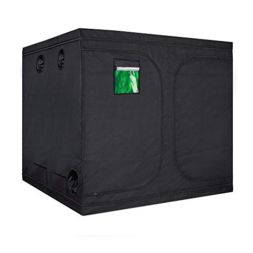 TopoLite 96'x96'x80' Indoor Grow Tent Hydroponic Growing Dark Room Green Box with Viewing Window