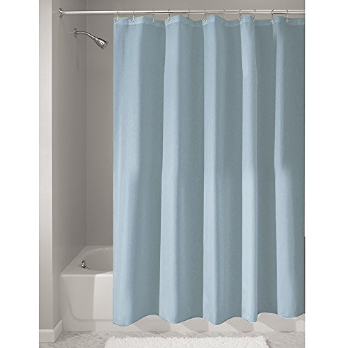 Price comparison product image iDesign Poly Bath Curtains,  Long Shower Curtain,  Made of Polyester,  Slate Blue