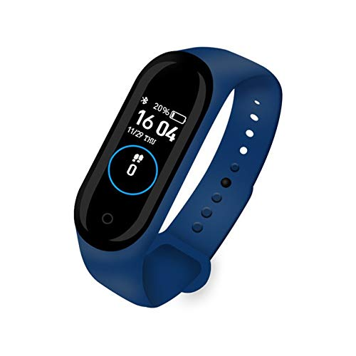 ZTYY Presión Inteligente Venda de Reloj de Pulsera de Fitness Trcker Deporte podómetro del Ritmo cardíaco Sangre Bluetooth Salud wirstband SmartWatch (Color : Blue)
