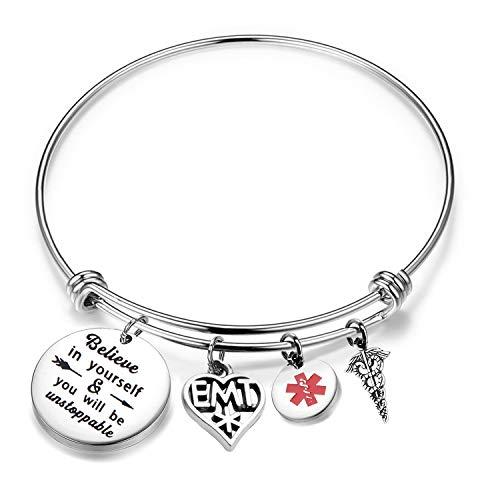 FUSTMW EMT Gift EMT Bracelet Emergency Medical Technician Gift Paramedic Gifts EMT Graduation Gifts (EMT Bracelet)