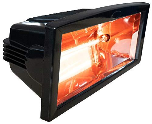 BRUBAKER InfraredMagicSun - Estufa calentadora por Infrarrojos (para terrazas), Color Negro