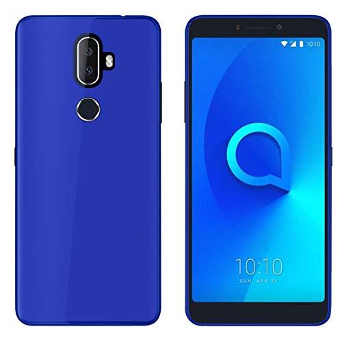 TBOC® Blau Gel TPU Hülle für Alcatel 3V (6.0 Zoll) Superdünn Flexibel Silikonhülle [Nicht Kompatibel mit [Alcatel 3] [Alcatel 3C] [Alcatel 3X]]