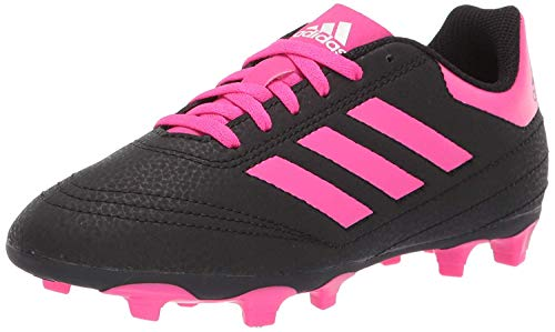 adidas Baby Goletto VI Firm Ground Football Shoe, Black/Shock Pink/White, 10K M US Toddler