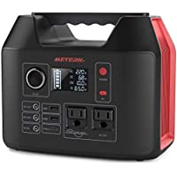 Meterk Portable 300W Power Station with 2 AC Outlet 2 DC 3 USB Ports