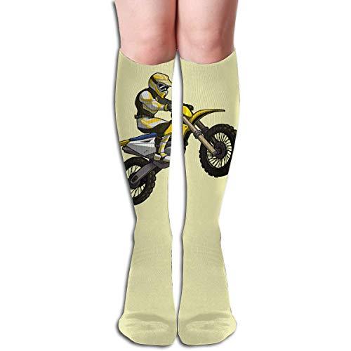 Ljkhas232 Long Socks, Motocross Rider Knee High Socks, Unisex Tube Compression Thigh Sock Crew Athletic Football Stockings