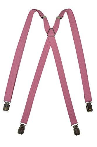 Olata Hosenträger mit 4 Clips - Modell 'Skinny' 2cm. Hellrosa