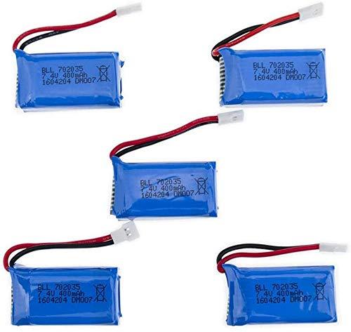 5Pcs / Lot 7.4V 400mAh 30C Lipo Batería 2S para DM007 RC Quadcopter Global GW007 Parte