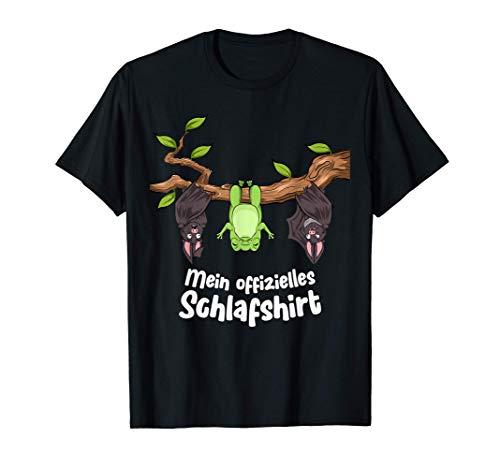 Mein offizielles Schlafshirt Frosch mit Fledermäuse T-Shirt