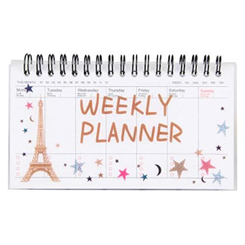 Lankater Carino Planner Fumetto settimanale Agenda Notebook Coil Giovani cancelleria
