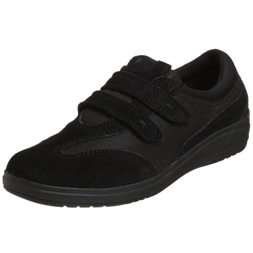 Grasshoppers Women's Stretch Plus Velcro Sneaker,Black,9 M US