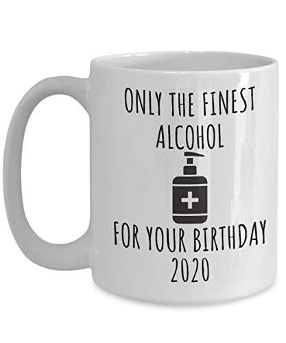 Jopath Divertido regalo de cumpleaños, taza de cuarentena, regalo de distanciamiento social, regalo de cumpleaños 2021, regalo para él, regalo para ella, regalo para amiga, mejor – blanco, 445 ml
