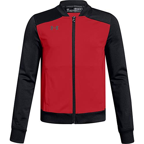 Under Armour Boys' Challenger II Track Jacket , Red (601)/Graphite , Youth X-Large