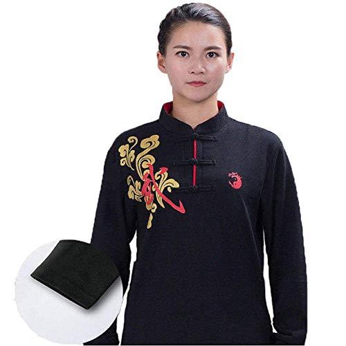 GAO-bo Traje de Tai Chi para Mujer, Uniforme de Artes Marciales Kung Fu Chino, algodón Artes Marciales Tradicionales Chinas Wing Chun Shaolin Kung Fu Chaqueta Ropa de Entrenamiento