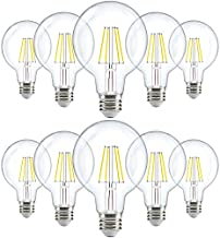 Sunco Lighting 10 Pack G25 LED Bulb, Dimmable, 5.5W=60W, 3000K Warm White, Vintage Edison Filament Globe, 500 LM, E26 Base, Indoor/Outdoor Lights - UL