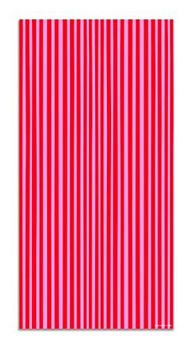 Agatha Ruiz de la Prada Alfombra Vinílica Estampados Básicos Líneas Rosas y Rojas 120x170cm - Alfombra Cocina Vinilo - Alfombra Salón Antideslizante e Ignífuga - Alfombras Grandes - Alfombras PVC