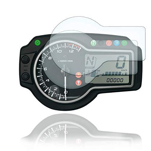 [2 Stück] Displayschutzfolie Tacho Schutzfolie geeignet für Suzuki GSR750 2011+ 2x Ultra Clear