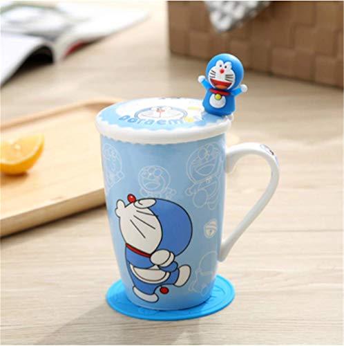 mingyuTazze Premium in Ceramica caffè/Carta da tè perfette per la Tua casa, caffetteria, Posto di Lavoro, Festa 11.7 * 12cm Blu