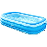 Sable 92 x 56 x 20in Rectangular BPA-free PVC Inflatable Pool