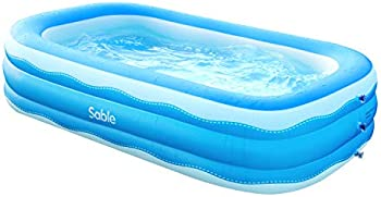 Sable 92 x 56 x 20in Rectangular Inflatable Pool