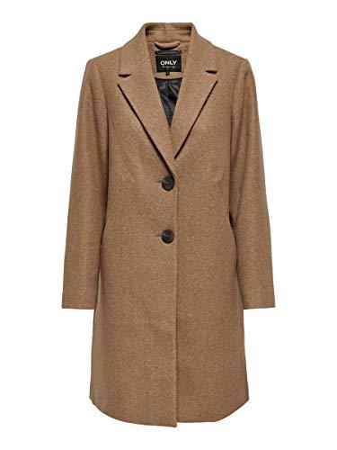 ONLY Onlnatalia Coat OTW Manteau, Camel/détails : chiné, M Femme