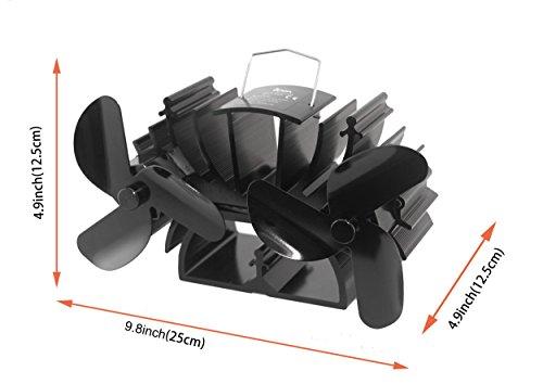Voda 6 Blades Heat Powered Stove Fan