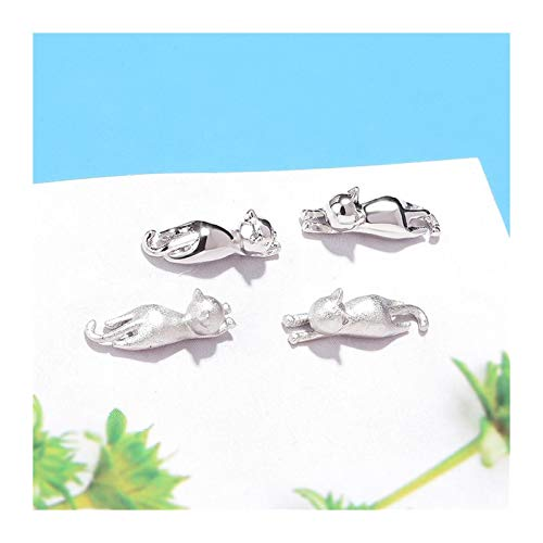 Xx101 Simple Small Earrings Cute Animal Smooth/Frosted Cat Stud Earrings For Women Wedding Jewelry Birthday Gift Wholesale Nixx0 (Color : 2-Frosted earrings)
