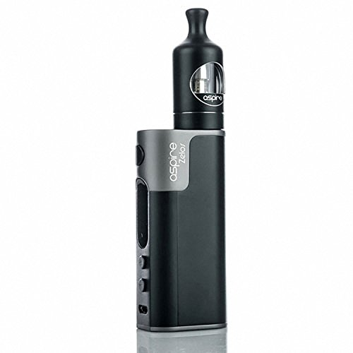 Aspire Zelos 50W Kit 2500mah battery with Newest Aspire Nautilus 2 Tank 2ml capacity with Aspire1.8ohm BVC coil (Black)