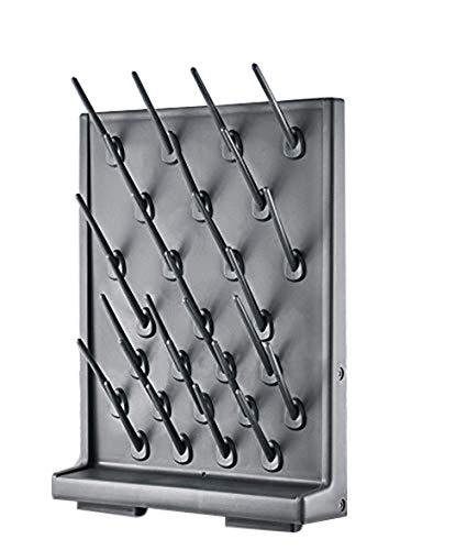 Drying Rack 27 Pegs Lab Supply Pegboard Bench-top/Wall-Mount Laboratory Glassware 27 Detachable PegsLab Drying Draining Rack Cleaning Equipment Black