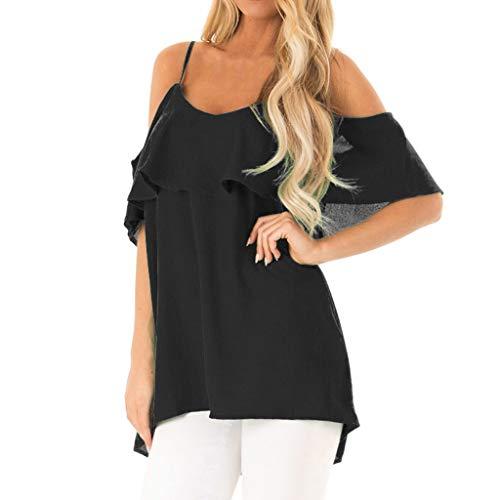 NEEKY Kurzarm Damen Sommer Schulterfrei Mode Rundhals Bluse Mode Crop Top Camisole Tank Einfarbig Polyester T-Shirt Camisole Racerback Weste Unterhemd