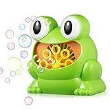 MACCF Baby Badespielzeug Badespielzeug Niedlichen Cartoon Nilpferd Frosch Automatische Blase, Die Maschine Bad Badewanne Seifenmaschine Baby Badewasser Spielzeug Für Kinder