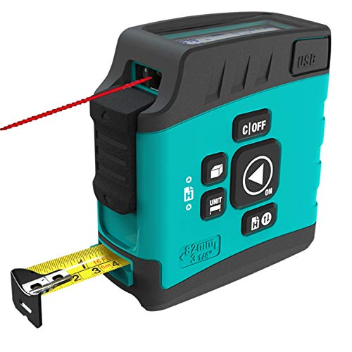 Metro Laser, Misuratore Laser Distanza, Misura di Nastro Laser Digitale 3 in 1, Misuratore di Distanza Laser 40m, USB Ricaricabile Misura di Nastro Laser, Misuratore Laser con Funzione Bluetooth