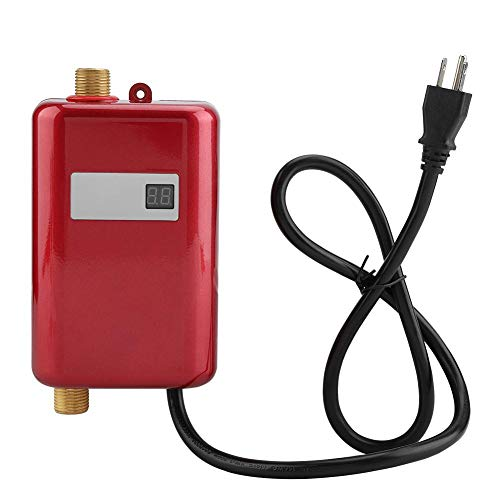 Water Heater, 110V 3000W Mini Electric Tankless Instant Hot Water Heater with LCD
