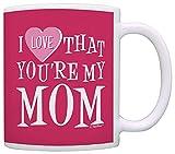 N\A Cadeaux pour Maman, J'aime Que Vous Soyez ma Maman Cadeaux de Fille Cadeau Tasse à café Tasse à thé Rose