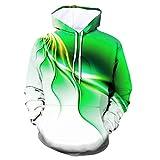 XDJSD Sudadera con Capucha para Hombre Chaqueta Suéter De Gran Tamaño Suéter con Capucha Estampado para Hombre Camiseta con Estampado De Tigre Colorido Personalizado