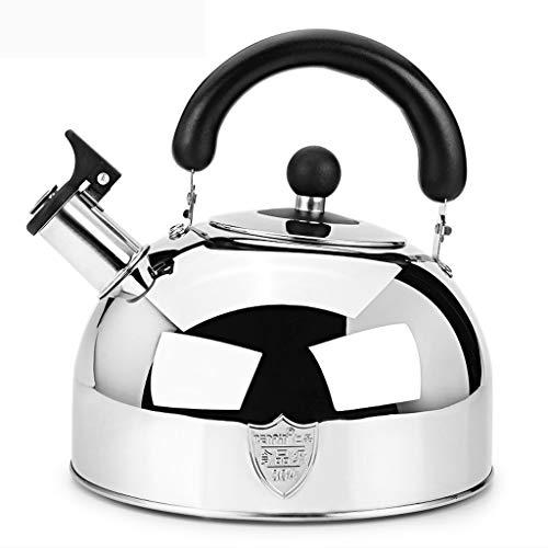 LCFF Bouilloire grande capacité Accueil Cuisine 304 Acier Inoxydable Cuisinière À Gaz Général Sifflet Automatique Santé Bouilloire (Capacité : 6L)