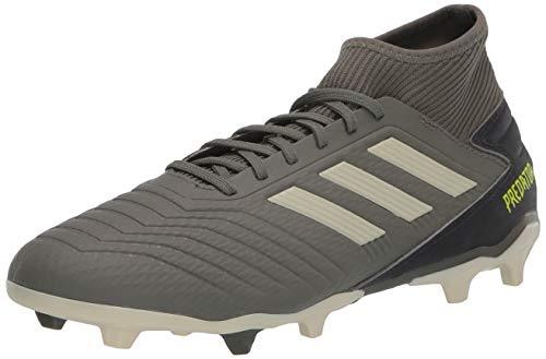 adidas Predator 19.3 Firm Ground Boots Soccer Shoe (mens) Legacy Green/Sand/Solar Yellow 11.5