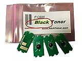 V-MAXZONE Reemplazo de Chip de Impresora, reemplazo de Chips de reinicio de tóner para Ricoh P C600, Impresora de Color PC600 (408310) (Negro, Paquete de 4)