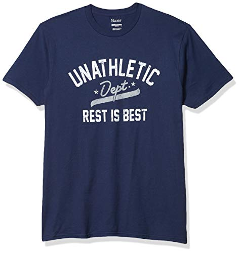 Hanes Men's Graphic Tee-Humor, Unathletic Department Navy, Medium